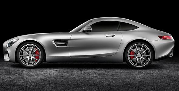 Mercedes-AMG GT (C 190) 2014, Studio, exterior: designo iridium silver magno