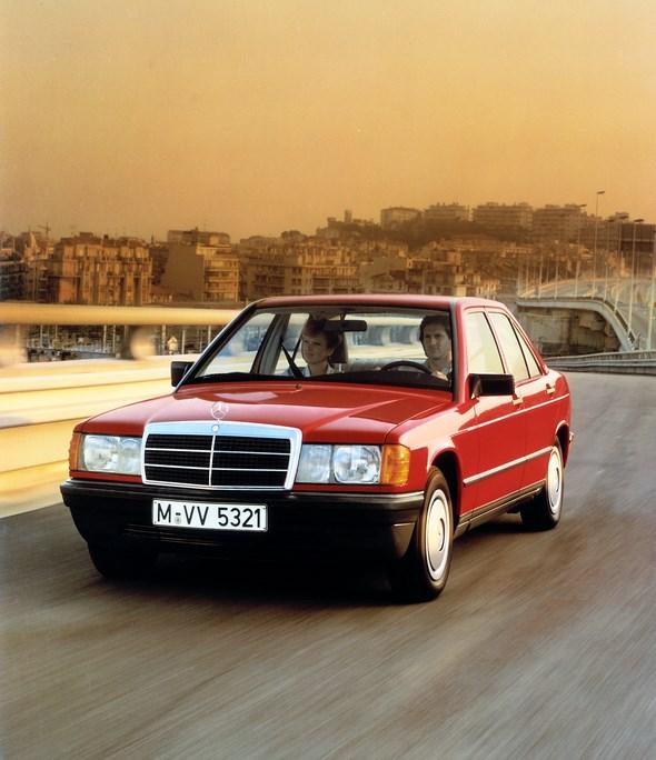 Mercedes-Benz Kompaktklasse-Limousine der Baureihe 201, 1982.