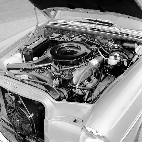 Mercedes-Benz Typ 280 SE bzw. SEL 3.5-Liter, 1971 - 1972. Motortyp M 116 E 35