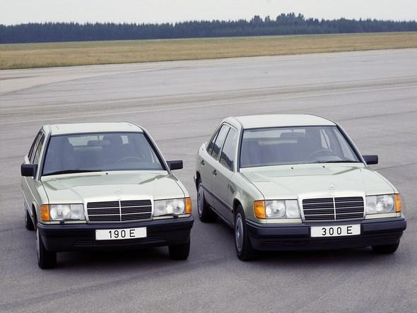 Mercedes-Benz Typ 190 E, Baureihe 201, und Typ 300 E, Baureihe 124