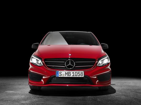 B 250 4MATIC ( W246) 2014, jupiterrot, AMG Line, Studio B 250 4MATIC (W 246) 2014, jupiter red, AMG Line, studio