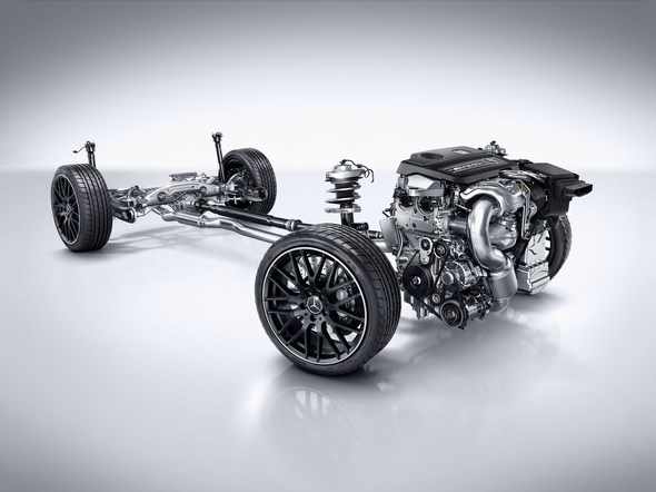 Mercedes-AMG A 45 4MATIC, serienmäßiger Allradantrieb AMG Performance 4MATIC, AMG Performance 4MATIC all-wheel drive as standard