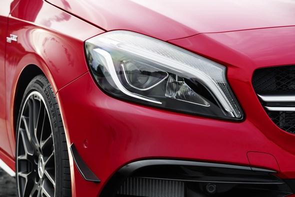 Mercedes-AMG A 45 4MATIC, jupiter rot, AMG Night-Paket, AMG Aerodynamik-Paket, Intelligent -Light -System jupiter red, AMG Night package, AMG Aerodynamics package , Intelligent light system