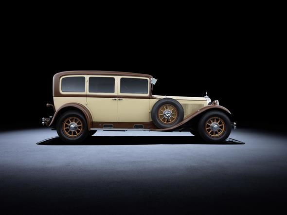 Mercedes-Benz Nürburg (W 08, 1928 bis 1933). Im Bild ein Typ Nürburg 460 aus dem Jahr 1929. Mercedes-Benz Nürburg (W 08, 1928 to 1933). The Nürburg 460 in the photo dates from 1929.