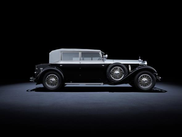 """Mercedes-Benz 770 """"Großer Mercedes"""" (W 07, 1930 bis 1938). Im Bild ein Fahrzeug aus dem Jahr 1931. Mercedes-Benz 770 'Grand Mercedes' (W 07, 1930 to 1938). The car in the photo dates from 1931."""