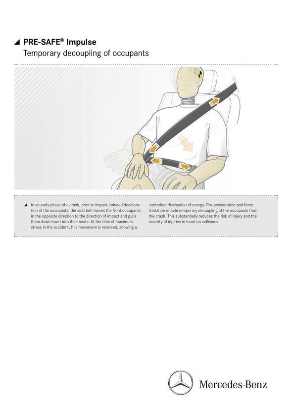 S-Klasse Grafiken, PRE-SAFE Impuls, (W 222), 2012