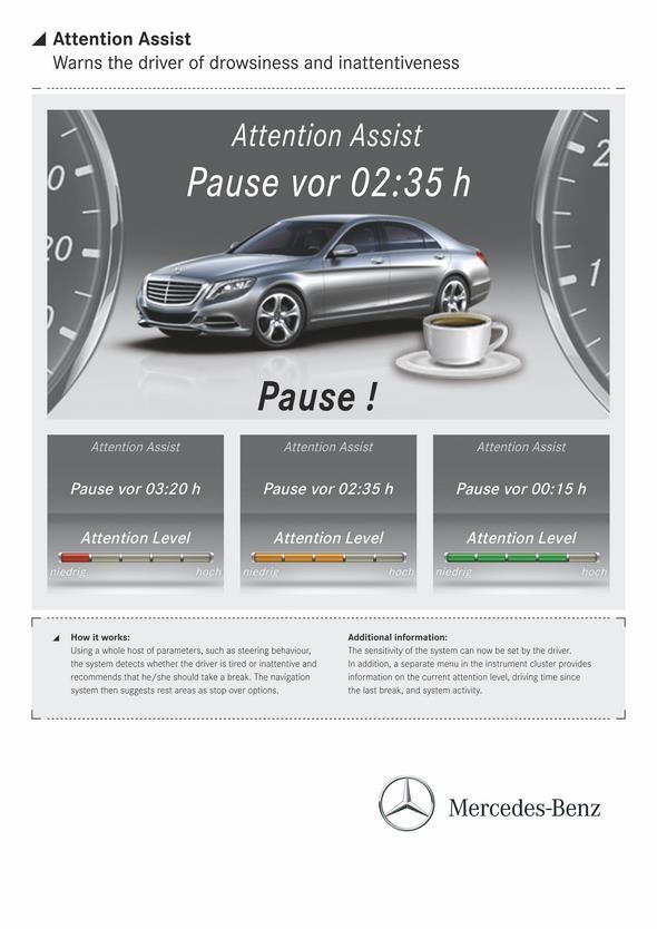 S-Klasse, W222 (2013) - Attention Assist