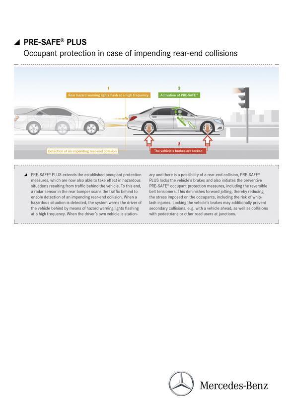 Mercedes-Benz S-Klasse (W 222) 2013, PRE-SAFE PLUS
