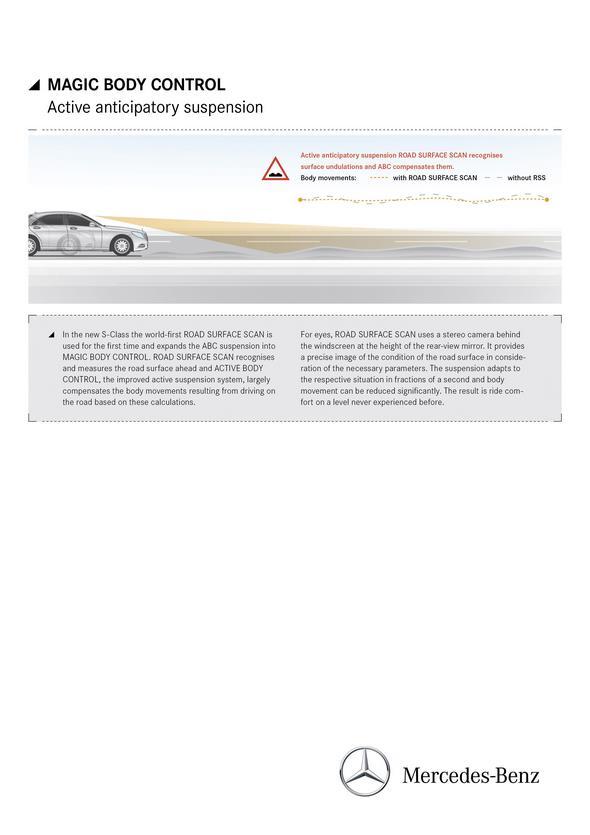 Mercedes-Benz S-Klasse (W 222) 2013, Magic Body Control