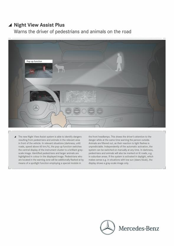 Mercedes-Benz S-Klasse (W 222) 2013, Night View Assist Plus