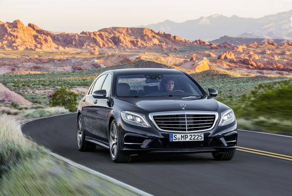Mercedes-Benz S 350 BlueTec (W 222) 2013, Lack: anthrazitblau metallic, Ausstattung: Leder Exklusiv tiefseeblau/seidenbeige