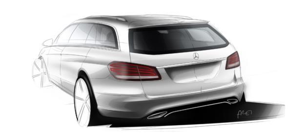 Mercedes-Benz E-Klasse, (BR 212) Designskizzen, 2012