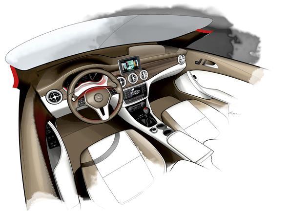 Mercedes-Benz CLA, Designzeichnungen (C 117) 2013