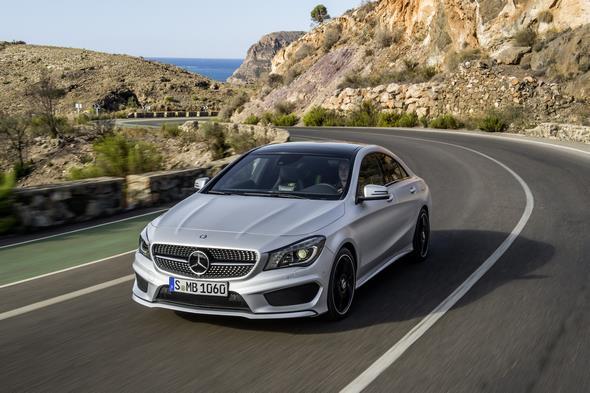 Mercedes-Benz CLA 250 Edition 1, (C117), 2012, Lack:Polarsilber MAGNO, Ausstattung: Leder Microfaser Dynamica schwarz NEON ART
