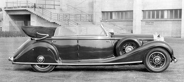Mercedes-Benz Typ 770, 150/200 PS, Großer Mercedes, Cabriolet D, Bauzeit: 1930 bis 1938.