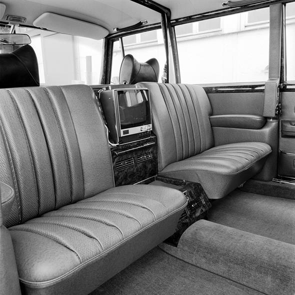 Mercedes-Benz Typ 600 Pullman-Limousine (4 Türen) aus dem Jahre 1969, Sonderausstattung Fernseher