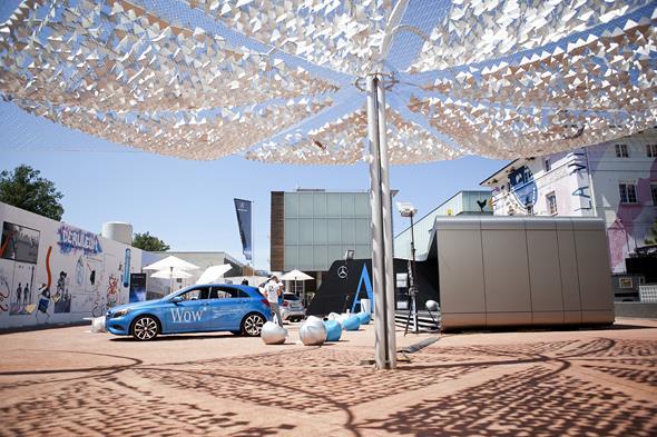 Gold für Mercedes-Benz A Klasse Pavillon und Roadshow