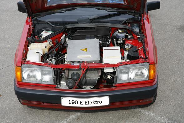Typ 190 E Elektroantrieb in der Erprobung