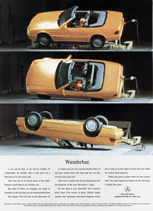 Mercedes-Benz SL (R 129), Werbeanzeige, 1995.