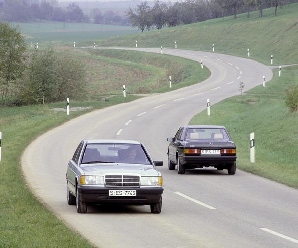 MB Kompaktklasse-Limousinen der Baureihe 201.