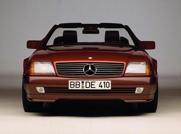 Caption orig.: Mercedes-Benz SL-Roadster, Baureihe 129