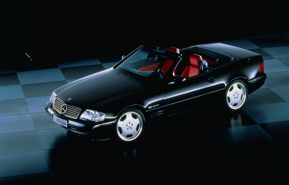 Caption orig.: Mercedes-Benz SL-Roadster der Baureihe 129