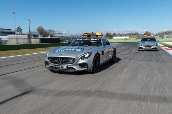 Mercedes-AMG GT S als Official Safety Car und Mercedes-AMG C 63