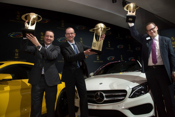 "Mercedes-Benz wins three categories in the prestigious ""World Car Awards 2015""  Mercedes-Benz gewinnt drei Kategorien der renommierten ""World Car Awards 2015""."