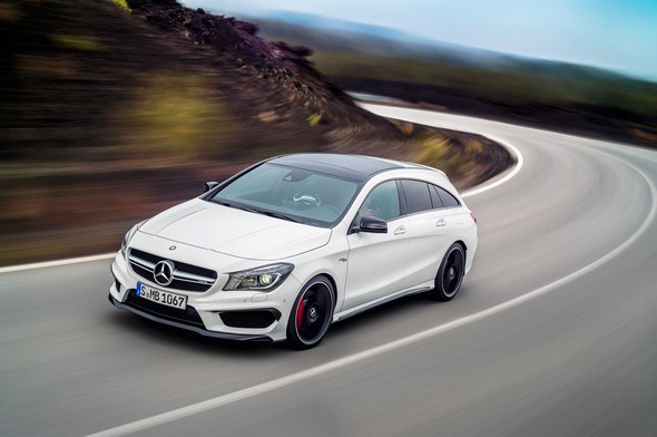 Mercedes-AMG CLA 45 Shooting Brake (X 117) 2014, calcitweiß Mercedes-AMG CLA 45 Shooting Brake (X 117) 2014, calcite white