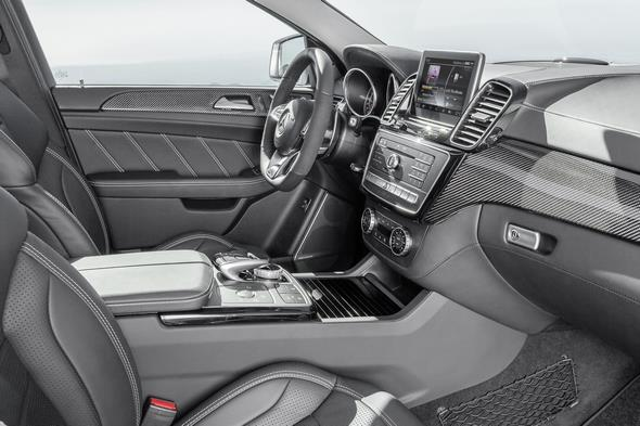 Mercedes-AMG GLE 63 (C 292) 2014; Interieur: Leder Nappa Schwarz; Zierteile Carbon/Schwarz interior: Nappa leather black; carbon-fibre / black piano lacquer trim