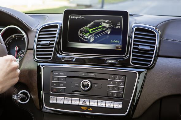 GLE 500 e (Plug-In Hybrid) W 166, 2015 COMAND Display mit Energieflussanzeige