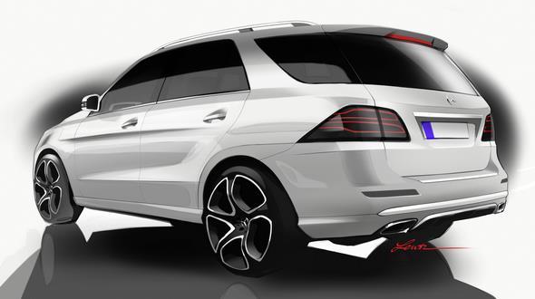 Mercedes-Benz GLE (W 166) 2015, Designskizze, design sketch