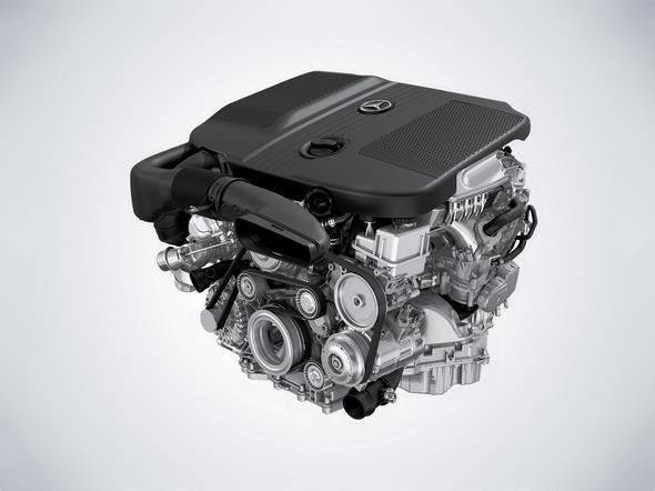 4-Zylinder Dieselmotor des GLE 250 d 4-cylinder diesel engine of the GLE 250 d