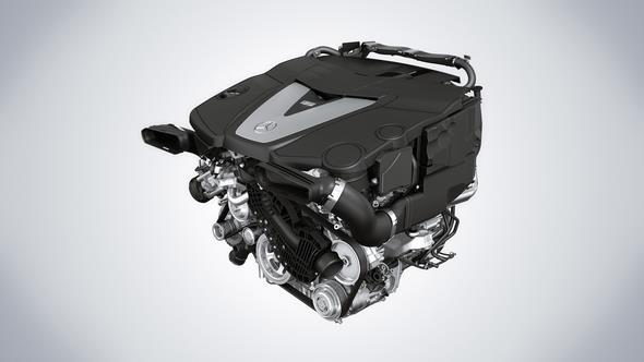 6-Zylinder Dieselmotor des GLE 350 d 6-cylinder diesel engine of the GLE 350 d