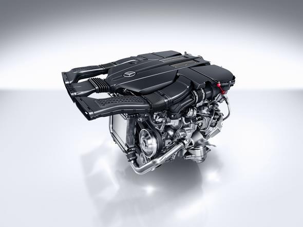 V6 Biturbo Benzinmotor des GLE 400 e 4MATIC (2015) V6 biturbo petrol engine of the GLE 400 e 4MATIC