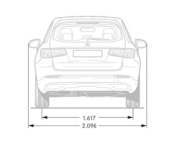 Mercedes-Benz GLC. Maßzeichnung Mercedes-Benz GLC. Dimensional drawing