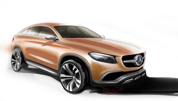 Mercedes-Benz GLE Coupé (C 292) 2015, Designskizze, design sketch