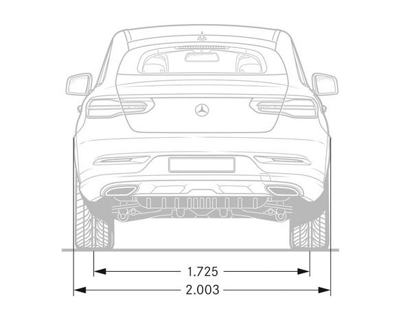 Mercedes-Benz GLE Coupé (C 292) 2015, Maßzeichnung, dimension drawing
