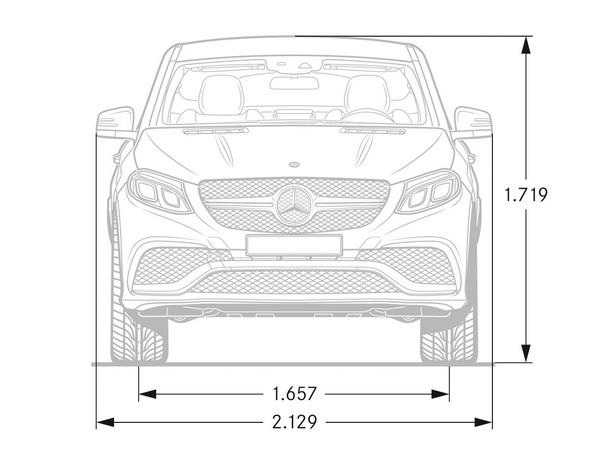Mercedes-AMG GLE Coupé (C 292) 2015, Maßzeichnung, dimension drawing