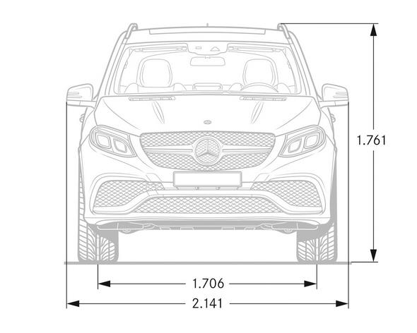 Mercedes-AMG GLE (W 166) 2015, Maßzeichnung, dimension drawing