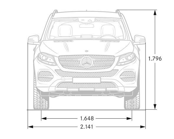 Mercedes-Benz GLE (W 166) 2015, Maßzeichnung dimension drawing