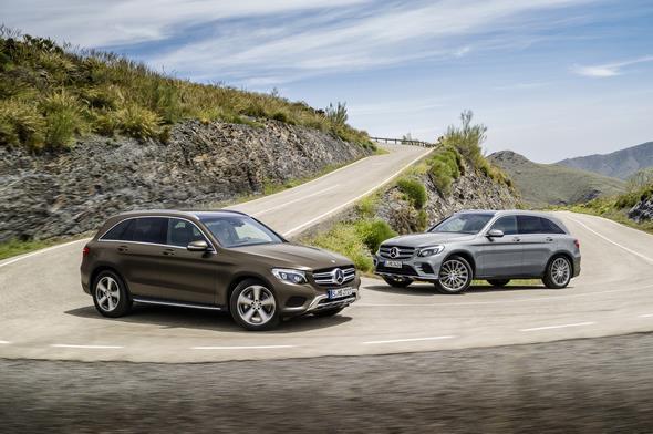 Mercedes-Benz GLC 220d 4MATIC (X 253) 2015, CITRINBRAUN MAGNO, Artico/Stoff Espresso, Offroad Line Exterieur Mercedes-Benz GLC 350e 4MATIC, EDITION 1, (X 253) 2015, SELENITGRAU met, Designo Leder Nappa Platinweiß, AMG Line Exterieur