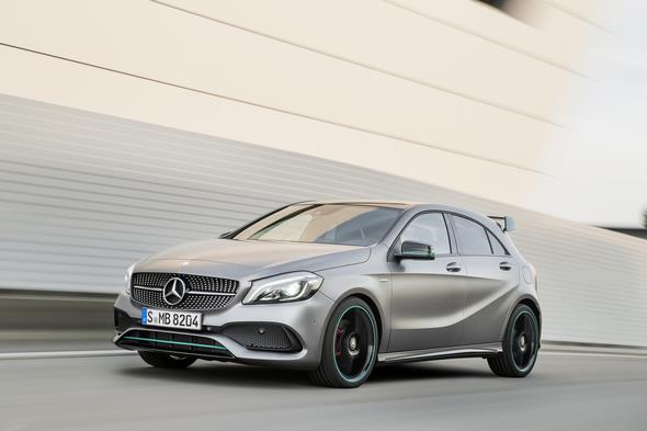 A 250 Motorsport Edition, Mountaingrau Magno, Interieur Leder/Mikrofaser DINAMICA schwarz A 250 Motorsport Edition, mountain grey, interior leather / DINAMICA black