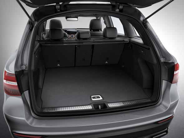 Mercedes-Benz GLC. Der Kofferraum fasst 550 Liter. The boot capacity is 550 litre