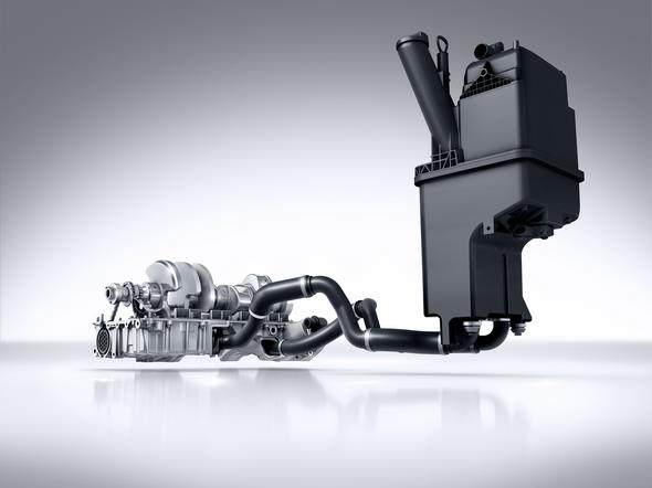 Mercedes-AMG GT (C 190) 2014; AMG V8-Zylinder-Benzinmotor mit Biturboaufladung, Baureihe M178, Trockensumpf inkl. Ölbehälter und Ölabsaugpumpe AMG V8 petrol engine with twin turbocharging, M178 model series, dry sump incl.