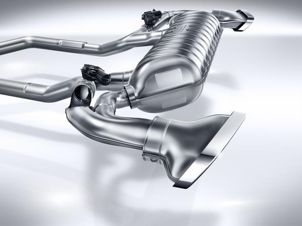 Mercedes-AMG GT (C 190) 2014; Sport-Abgasanlage sports exhaust system