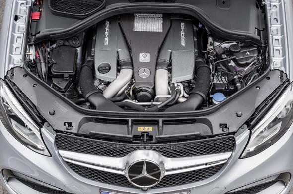 Mercedes-AMG GLE 63 (C 292) 2014; 5,5-Liter V8-Biturbomotor, 410-430 kW(557-585 PS), 700-760 Nm 5.5-litre V8-biturbo engine, 410-430 kW(557-585 hp), 700-760 Nm