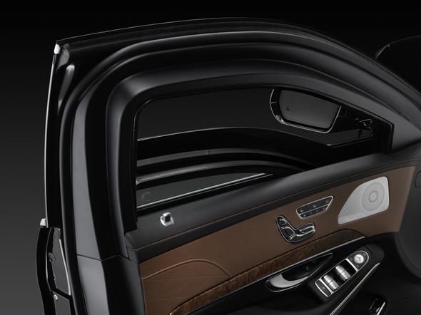 Mercedes-Benz S-Klasse Guard. Die Schutzverglasung in den Türen bietet unerreichte Sicherheit.