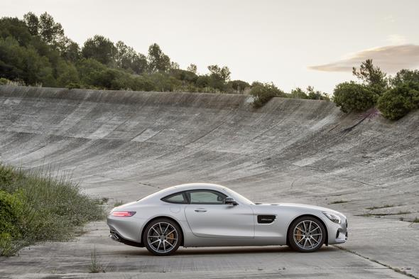 Mercedes-AMG GT (C 190) 2014, exterior: designo iridium silver magno,