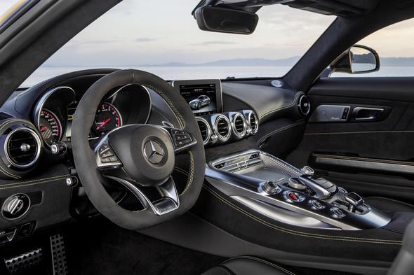 Mercedes-AMG GT (C 190) 2014; interior: Exclusive nappa leather black / DINAMICA Exclusive microfibre black